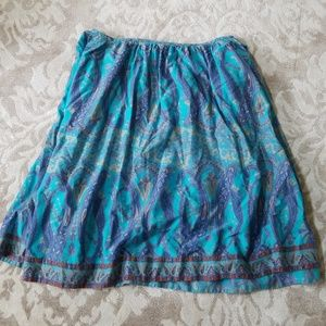 Plenty anthropologie patterned skirt size 12